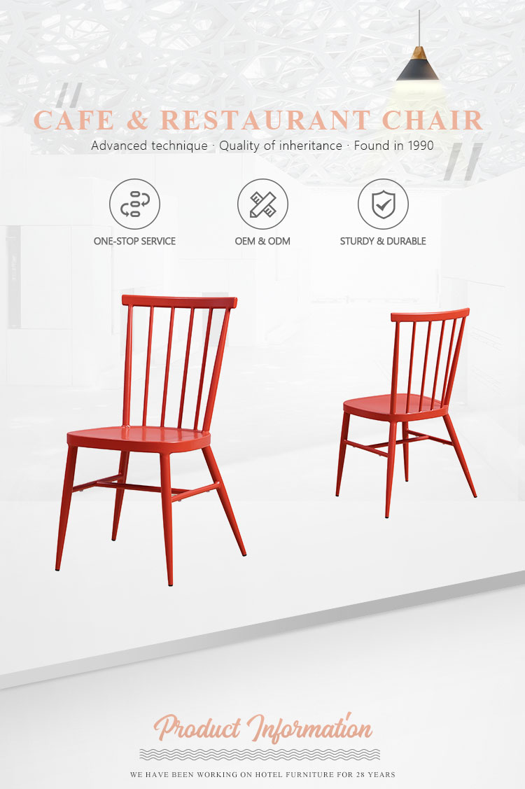 Wholesale High Quality outdoor vintage stackable modern metal dining chair