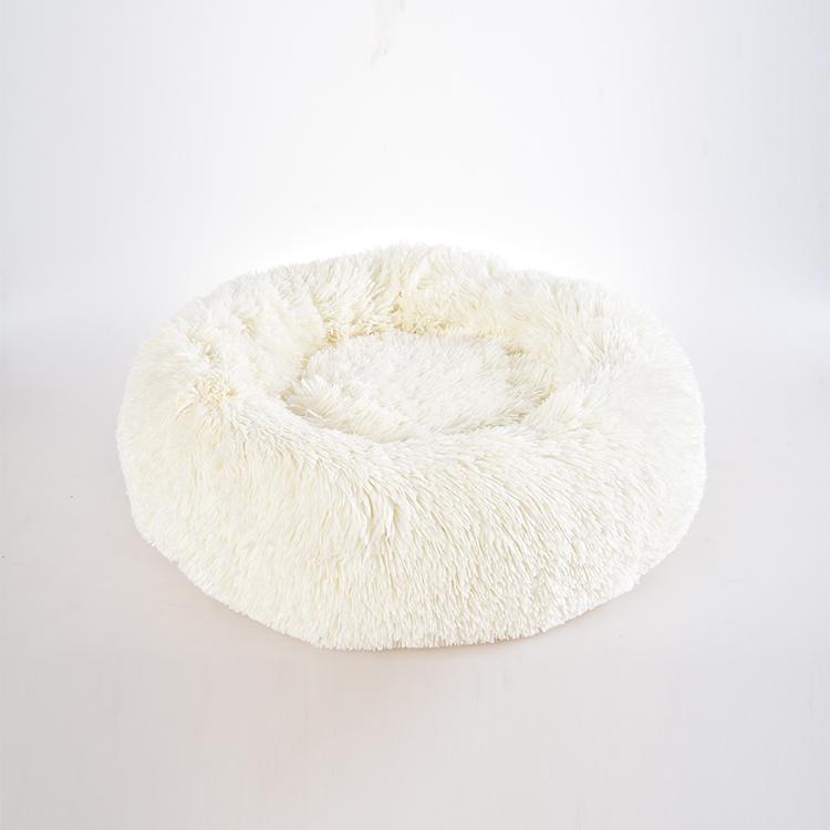 Orthopedic dog bed comfortable donut round dog bed super soft washable pet cushion bed