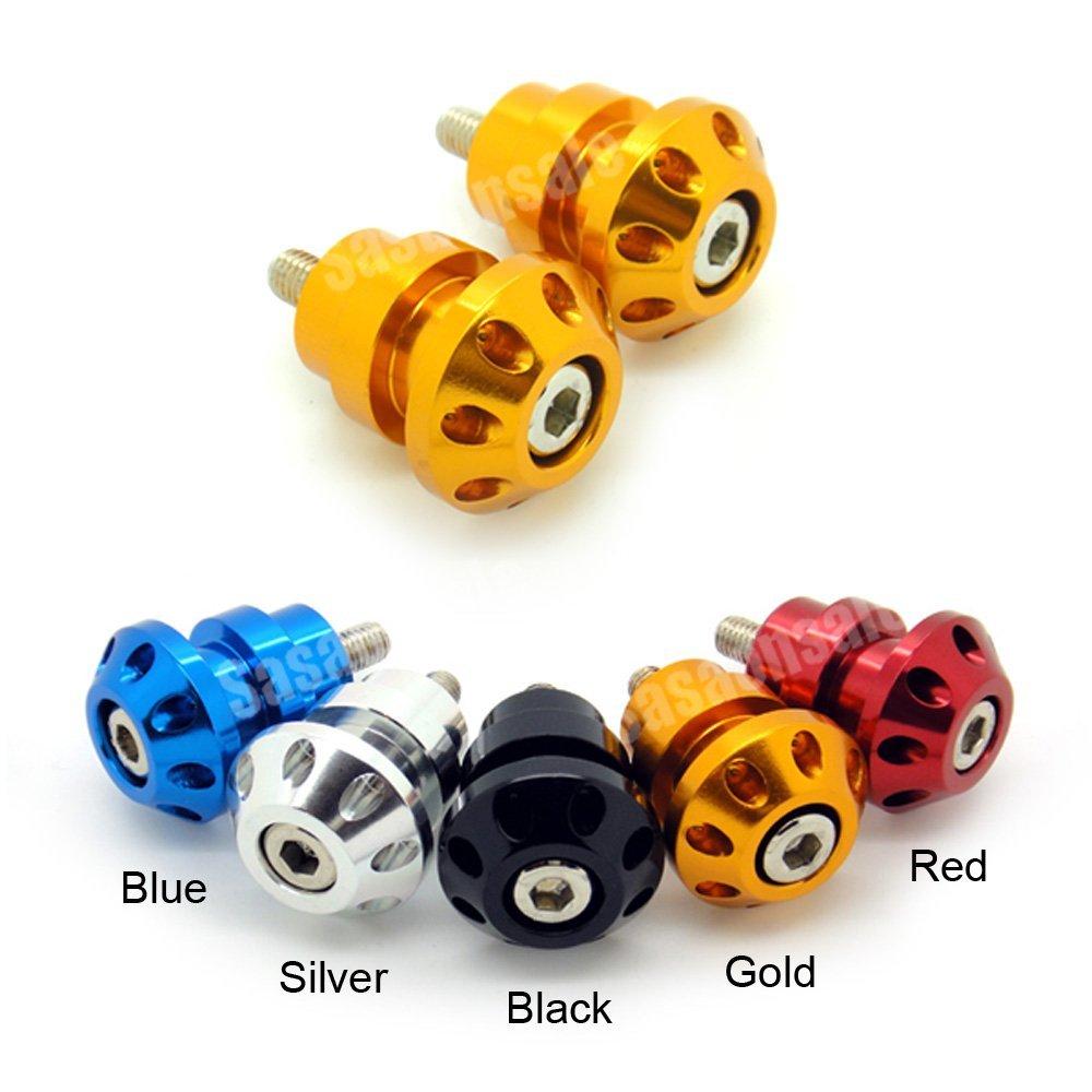 MIT Motors - GOLD - 6mm Universal Swingarm Spools - Yamaha YZF600 R6, YZF1000 R1, YZF 600, 1000, FZ-1, FZ-8, Aprilia RS50, RS125, RS250, Triumph Speed Triple 675, Daytona 675