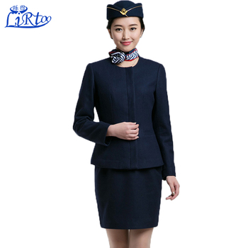 12df0e9f533 Hot Ladies Sexy Airline Stewardess Uniform Red And Blue Air Hostess Costume  Uniform With Formal Suit - Buy Red Flight Suit,Fashion Airline Stewardess  ...