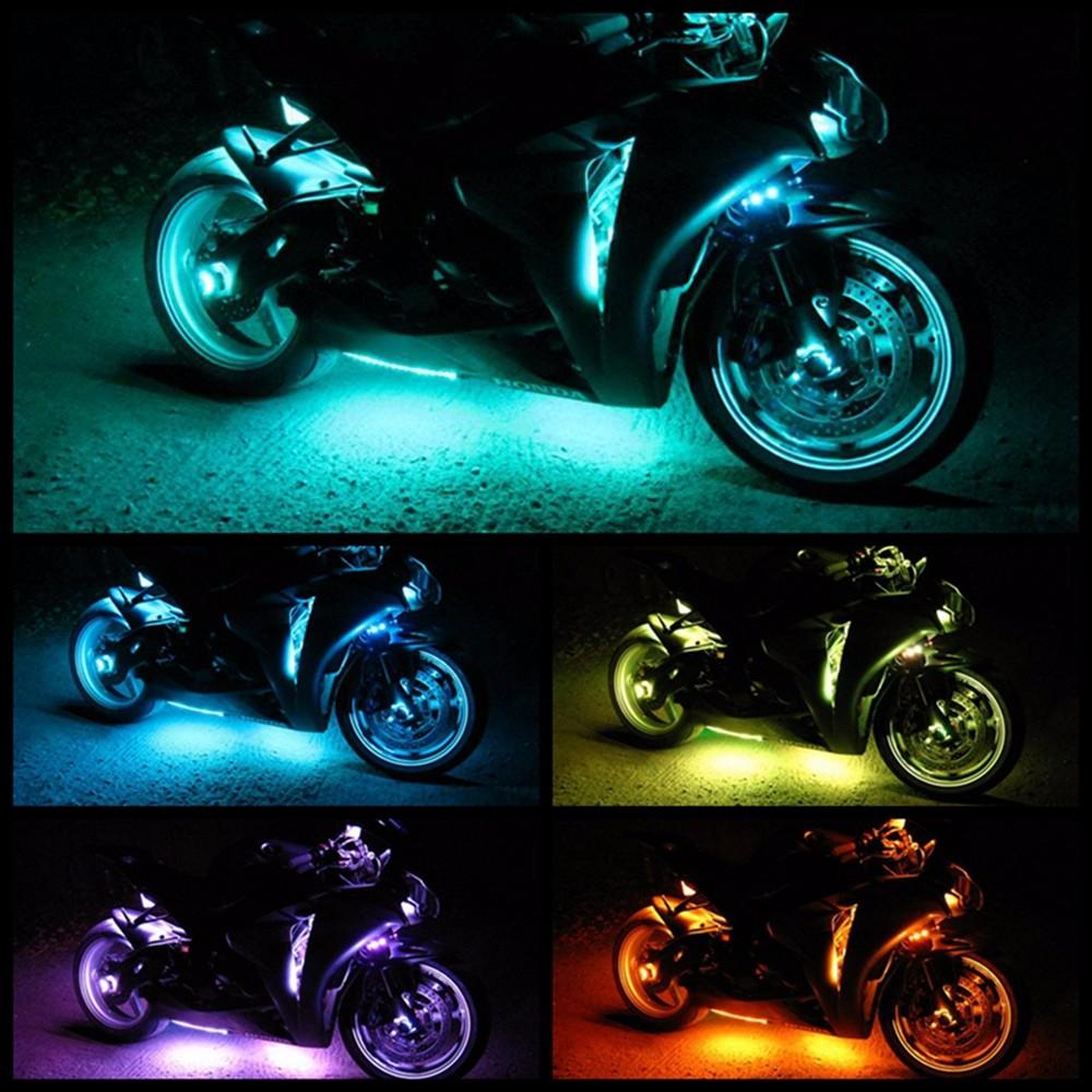 6 pcs 50w music controllerrgb motorcycle led strip light kit 6 pcs 50w music controllerrgb motorcycle led strip light kit motorbike changeable color decorative aloadofball Choice Image