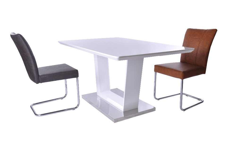 Modern italian luxury glass top dining room furniture for Luxury glass dining tables