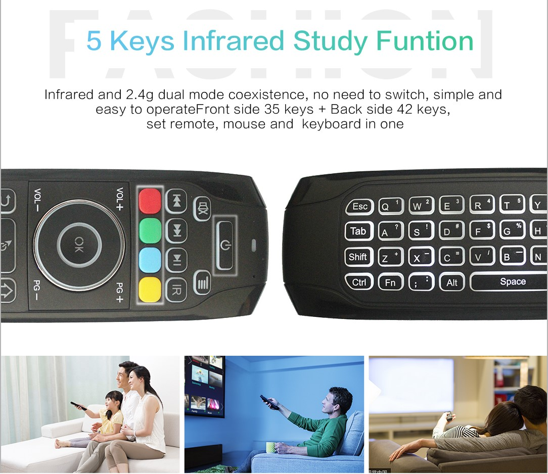 Factory price multi-media remote control G7 mini wireless keyboard for PC/Laptop/android Smart TV Box/gaming