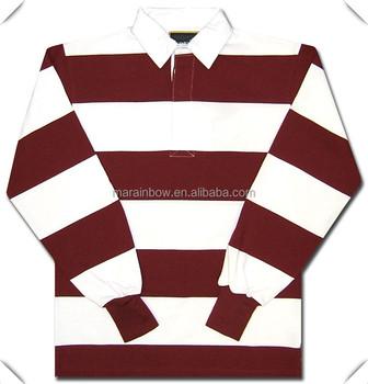 83db89d3ab1bc Diseño clásico rayas manga larga Camisetas De POLO de Rugby de los hombres  con OEM logotipo