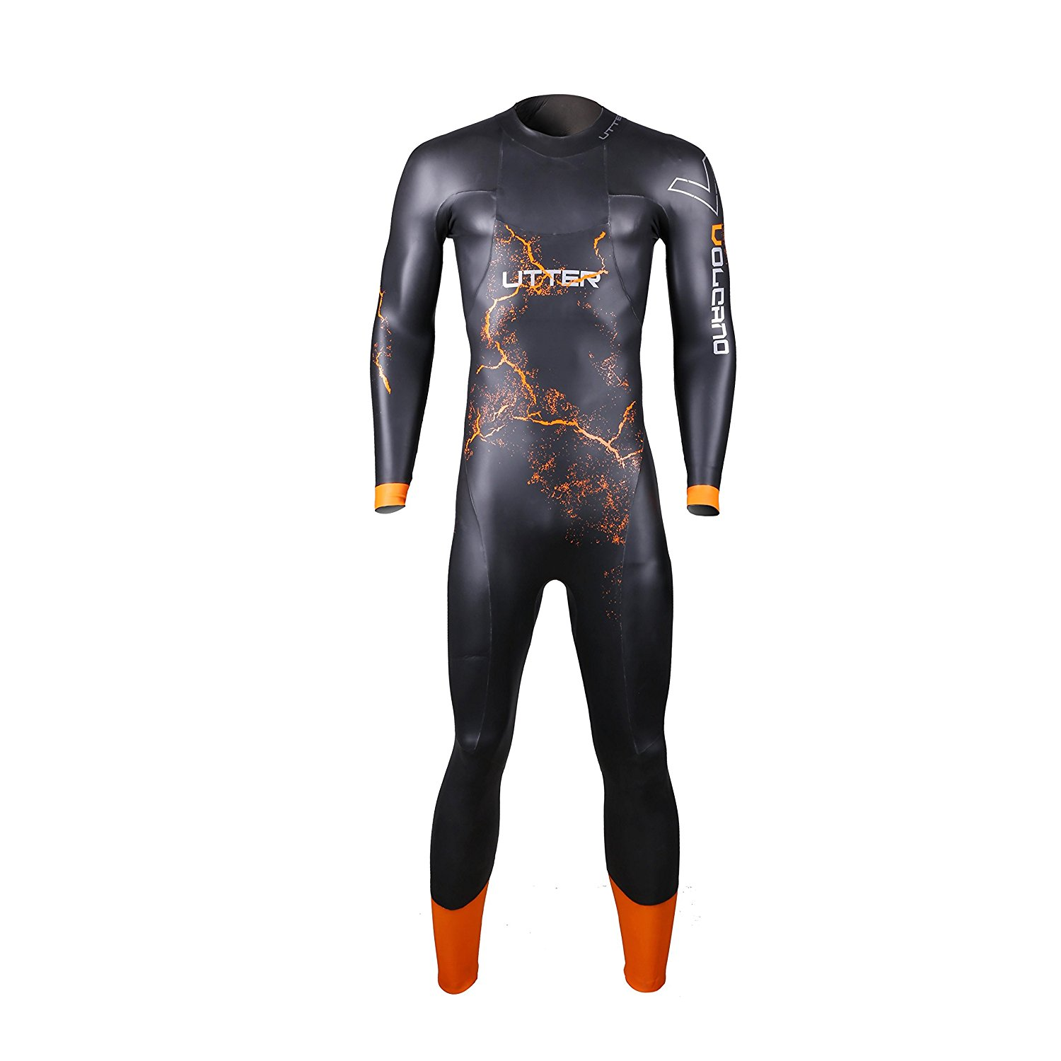 Get Quotations · UTTER Volcano Man Long Sleeves 5mm Smooth Skin Entry Level  Triathlon Surfing Swimming Wetsuit with Yamamoto 0e3df9ebf