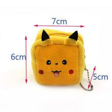 Кошелек для монет с героями мультфильмов «Pokemon Pikachu», плюшевый мини-кошелек с животными для девочек, кошелек для смены ключей для женщин, дет...(Китай)