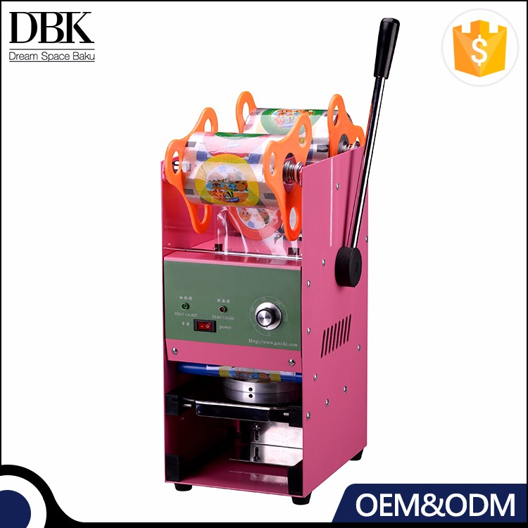 DBK Manual Cup Sealing Machine/Plastic Cup Sealer/Commercial Sealer Machine