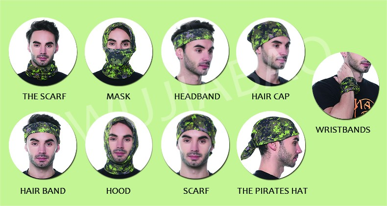 Multifunctional Outside Fishing Headwear Anti UV Face Mask Fish Bandana c1e16bc5c94