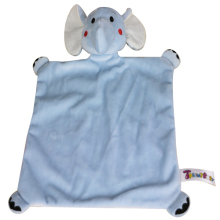 ICTI factory soft plush elephant toy baby blanket soft baby comforter