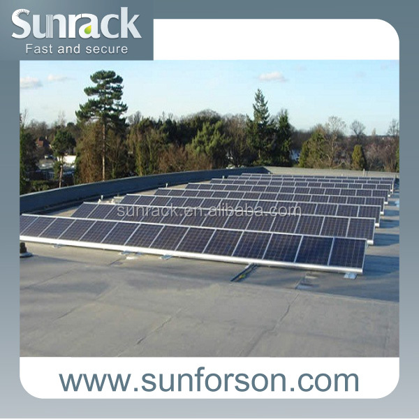 Ballasted Flat Roof Solar Panel Mounting System ,Solar Mounting Design