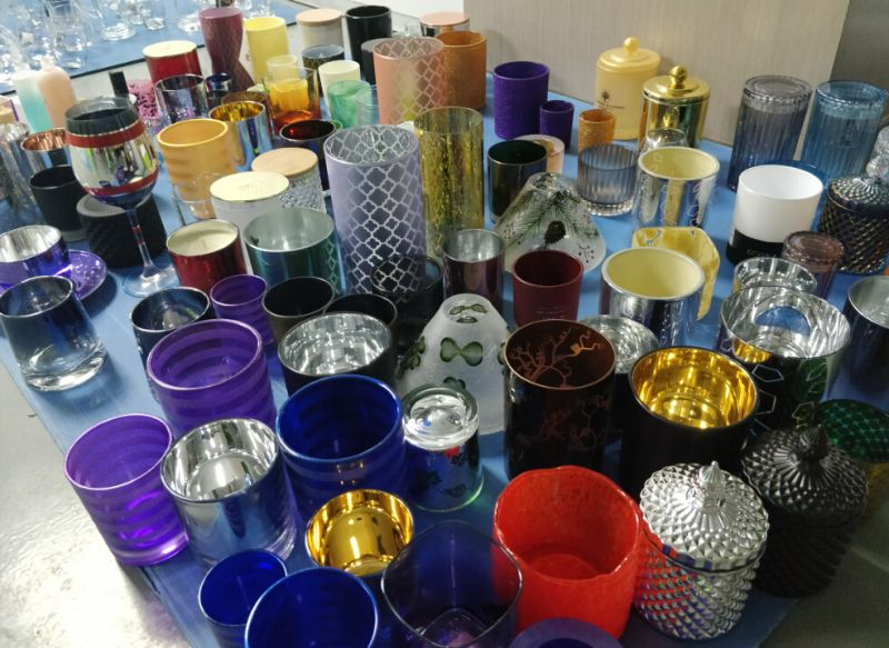 Plating glass candle holder factory, Wholesale Mercury glass votives, Glass candlestick, Candle jar/container for wedding