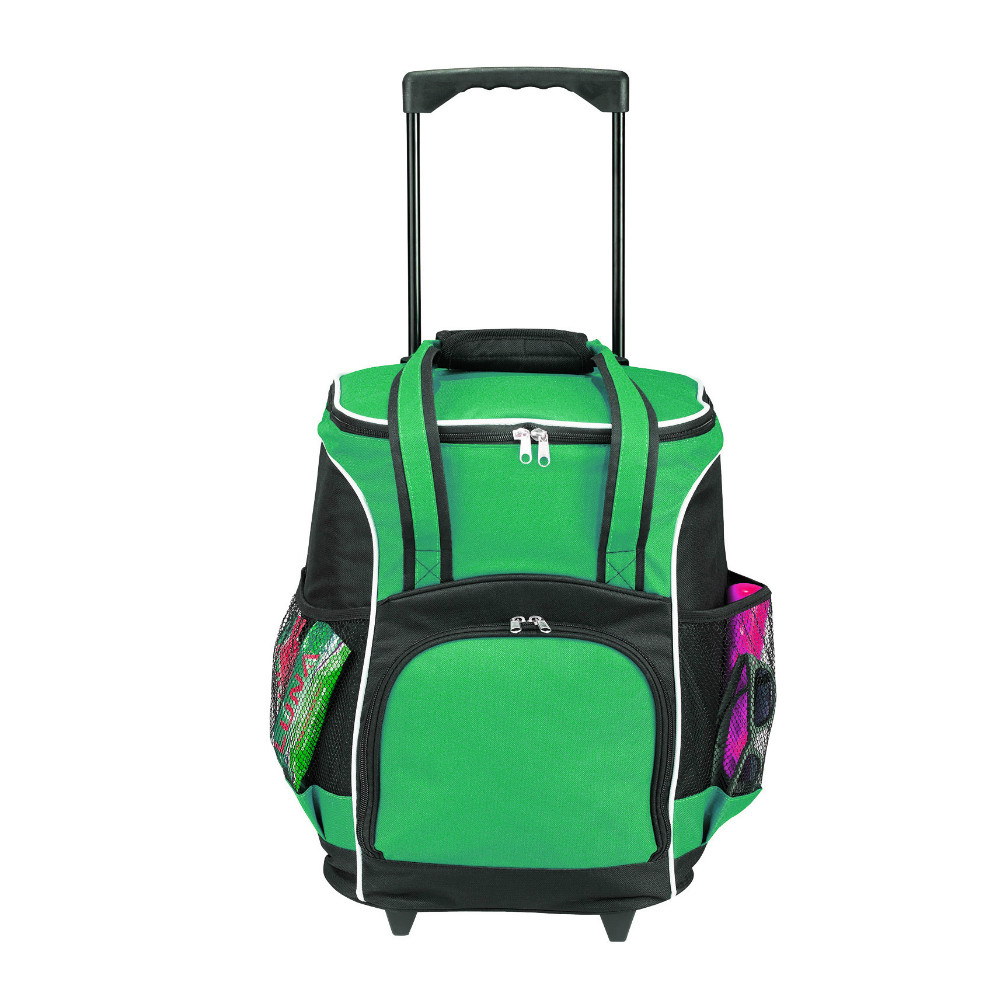 48 Can Rolling Cooler bag, trolley wheeled kooler cool box case, roller rolling picnic thermal lunch insulated ice pack bag