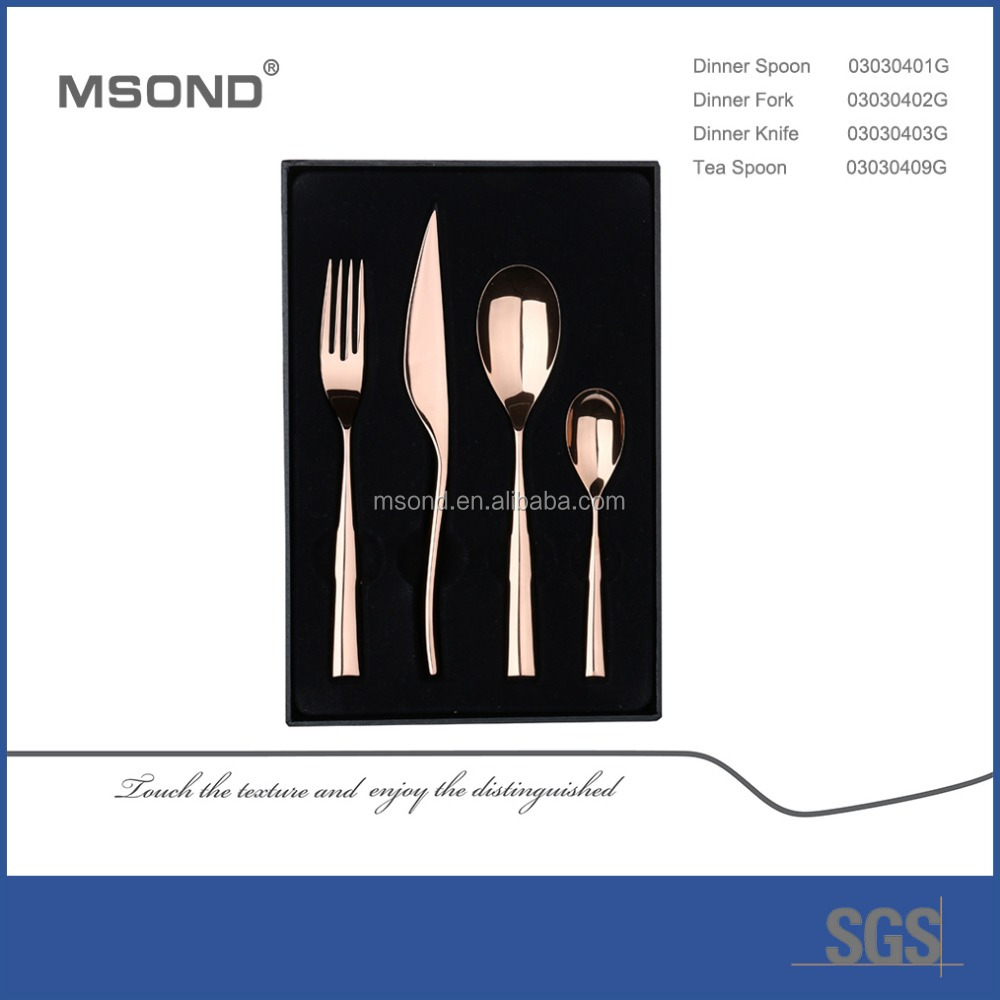 holiday gifts MSOND brand Heroine stainless steel gold plated flatware wholesale