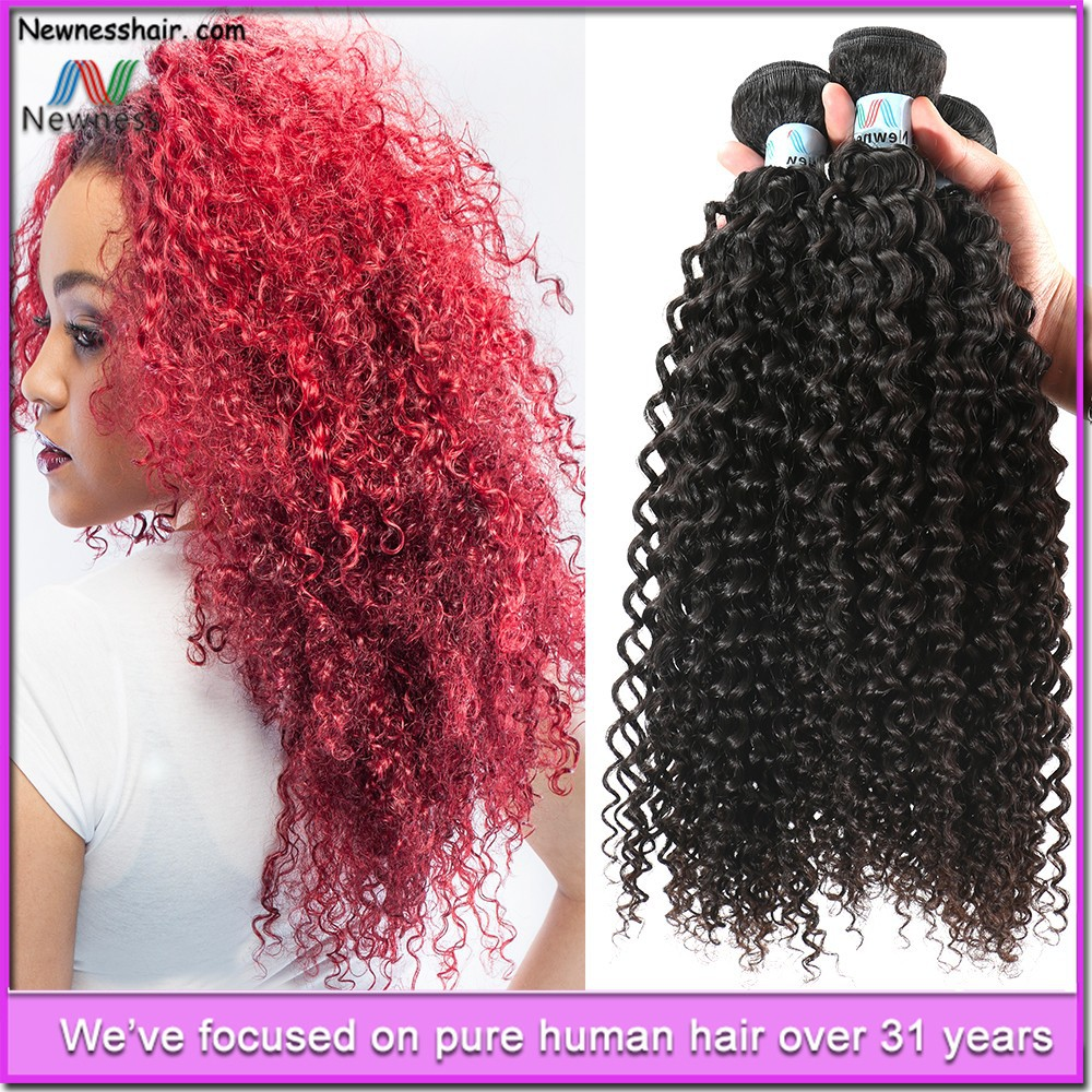 Wholesale Price Red Curly Brazilian Hair Weave Kinky Curly Hair