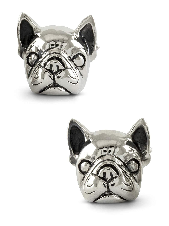 ZAUNICK French Bulldog Cufflinks Sterling Silver
