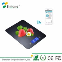 5kg/11lbs Unique Design LCD Display Touch Screen Household Digital Bluetooth Multifunction Balance Kitchen Food Weight Scale