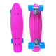 Cheap Longboard 22*6inch PP plastic skate board custom skateboard with PU wheels