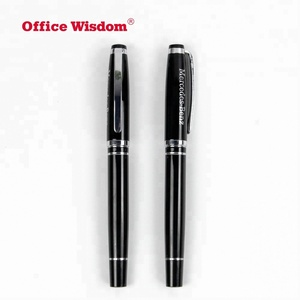 High-end Classic Standard Size 0.7mm Silm Gel Rolling Ball Refill Waterproof ink Fine Tip Black Metal Roller Ball Pen