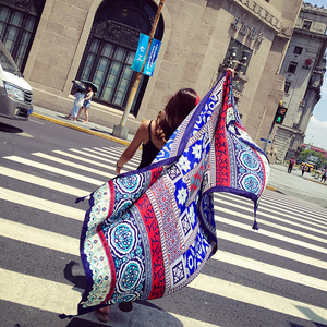 various patterns summer autum100%cotton linen pashmina scarf shawl women printed beach pashmina scarf