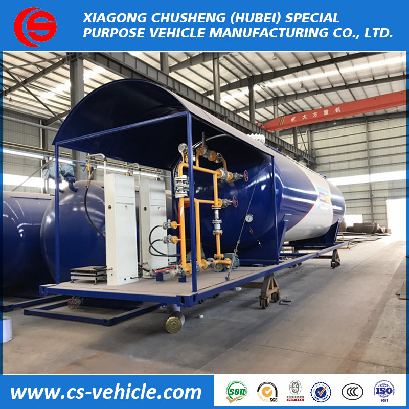 Chusheng factory selling 40M3 20 tons LPG skid station for sale