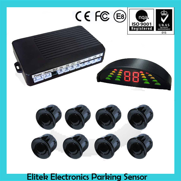 Car Front & Rear 8 eyes parking sensor for toyota rav4