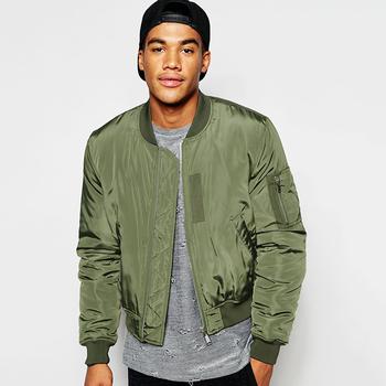 Cropped Bomber Jacket In Green Bomber Jacket Men Wholesale - Buy ...