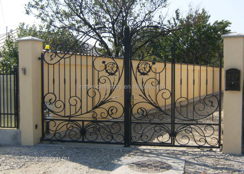 2015 new products models house gate designs iron main gate for Home gate design