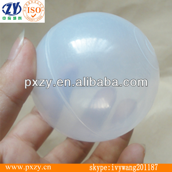 65mm LDPE Soft Plastic toy ball, Play Tent Tunnel Pool Toys For Children Kids clear plastic balls