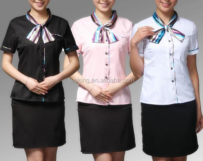 2015 ladys seragam hotel modern desain seragam seragam for Office uniform design 2014