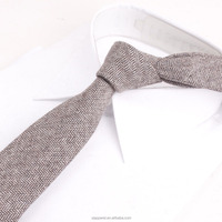 Wool Tie Skinny Ties Narrow Solid Color Slim Striped Necktie