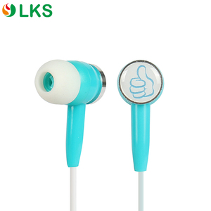 Wholesale mp3 plastic personalized custom logo stereo music wired earbuds