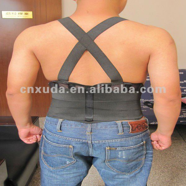 BACK SUPPORT BELT WAIST BRACE HELP PROTECT PAIN LIFTING HEAVY OBJECT