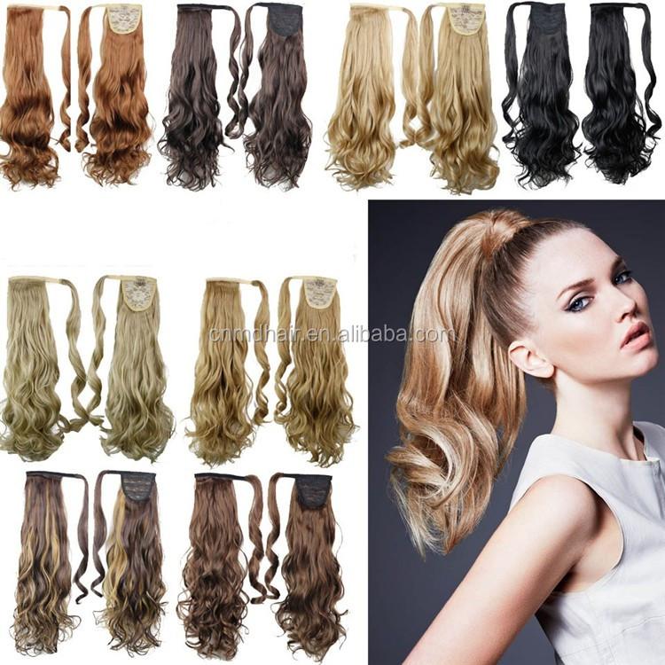 Real Natural Human Hair Ponytail 120g Straight Ponytail Human Hair