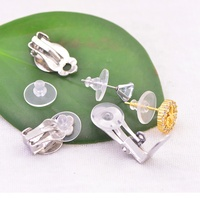 Frog clip transparent earring lock invisible Creative flying disk earring findings