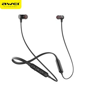 AWEI G10BL Customized Neckband wireless headphones dual speakers bluetooth Stereo earphone handsfree