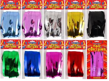 klatergoud shimmer coloured folie deur gordijnen