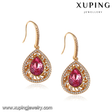 93731 Newest Arrival Xuping Fashion Jewelry 18k gold plating Earring made with crystals from Swarovski big stone earrings