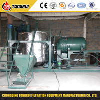 High vacuum Full automatic and decolorization engine oil filter recycling machine