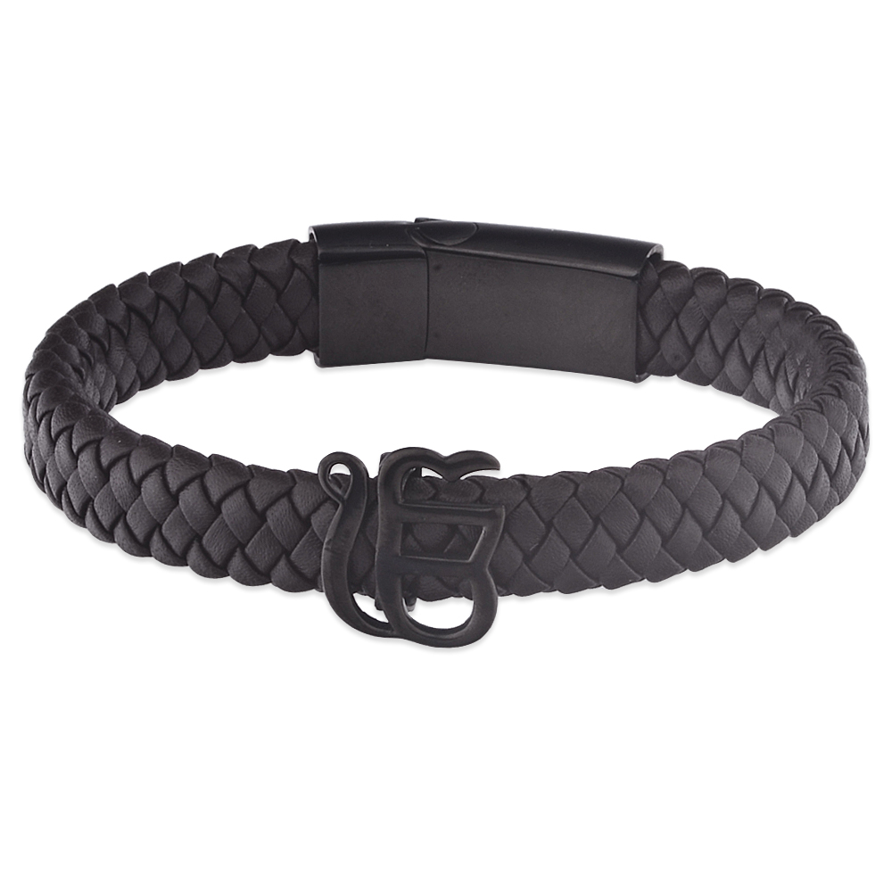 Wholesale Custom Blanks Braided Leather Bracelet