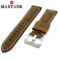 crazy horse leather genuine pull up leather 24mm 26mm Italian watch band watch strap