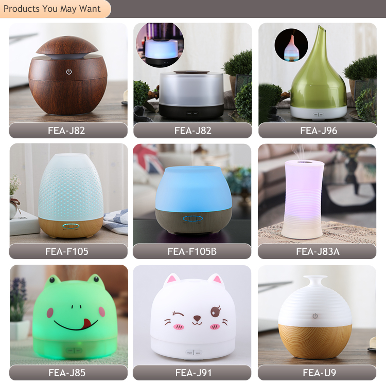 FEA Brand Wooden Mini Ball Ultrasonic Air Cleaner Humidifier, Professional Humidifier LED Aroma Diffuser