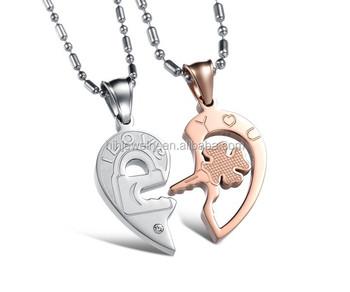 Heart shape puzzle key pendant necklace meaning for couples heart shape puzzle key pendant necklace meaning for couples jewelry aloadofball Choice Image