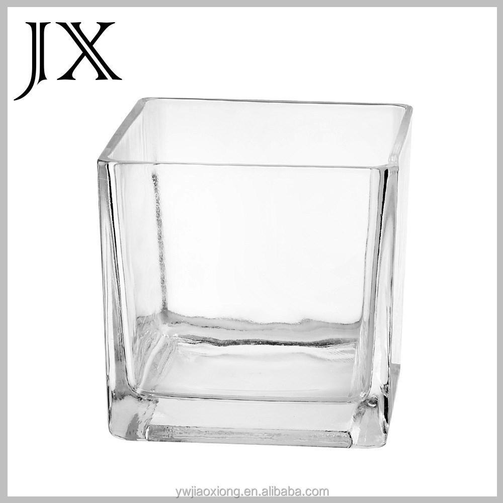 carr clair table basse aquarium en verre carr vase en verre pour la d coration vases en verre. Black Bedroom Furniture Sets. Home Design Ideas