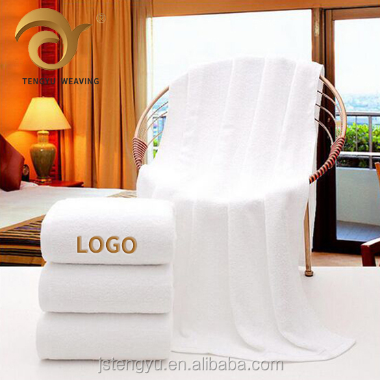 Custom Logo 100% cotton Towel Hotel,500gsm 600gsm 700gsm white Bath Towels