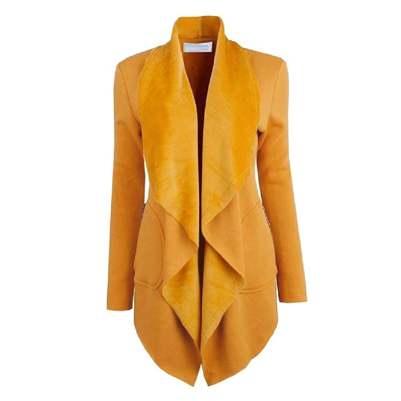 65eef8c00ac Get Quotations · XiaoTianXin-women clothes XTX Women Lapel Outerwear Tuxedo  Blazer Mid-Length Blazer