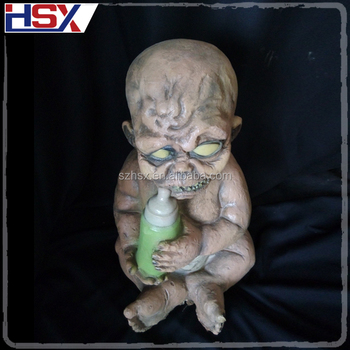 Halloween Zombie Baby Prop.Hotest Halloween Party Decoration Haunted House Props Sucking Bottle Horror Baby Zombie Buy Zombie Baby Zombie Halloween Props Product On