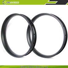 Hot selling high quality 26 inch carbon rims 80mm clincher fat bike rim for fat bike wheelset