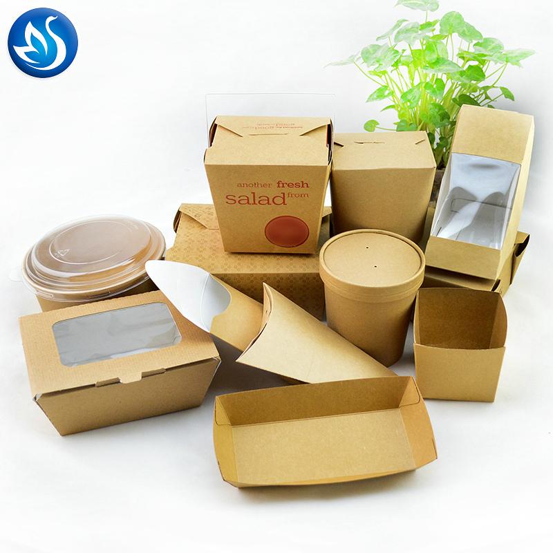 Disposable Kraft Paper Food Box/paper Food Packaging Box