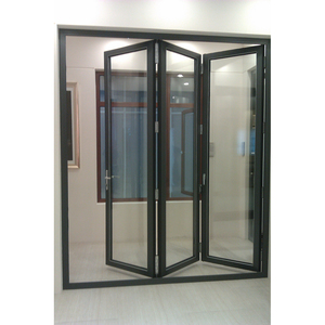 2015 New Products Blind Inside Thermal Break Cheap Plastic Folding Door
