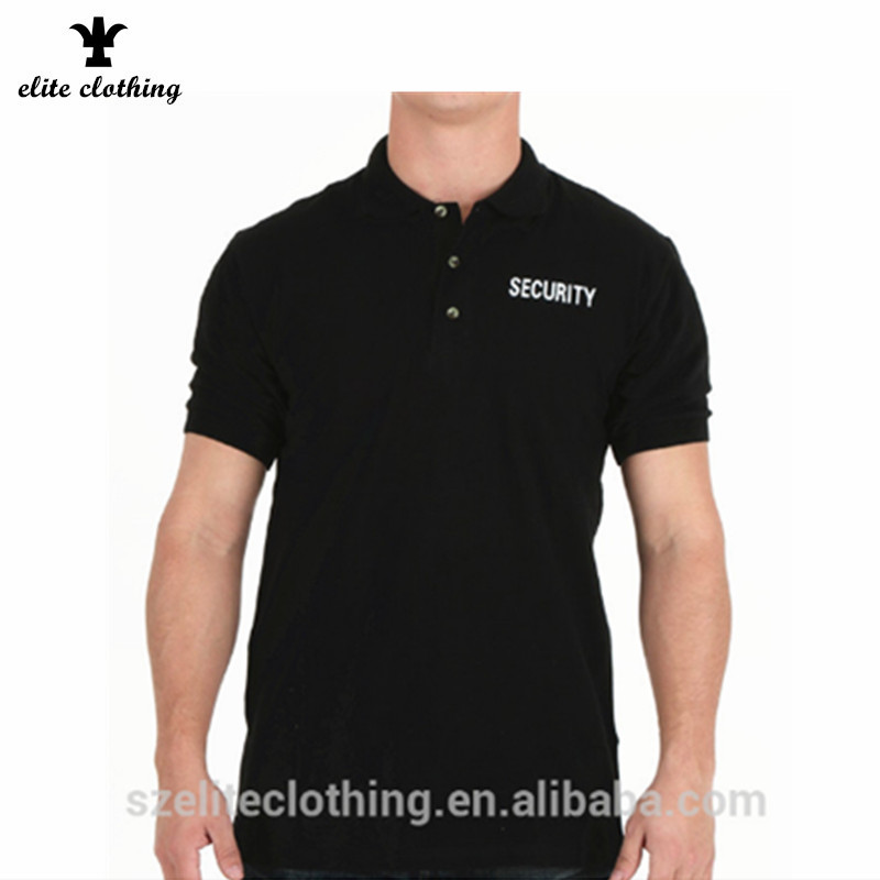 19370b3b Custom Logo 100% Cotton Black Security Polo Shirt Cheap - Buy Cotton ...